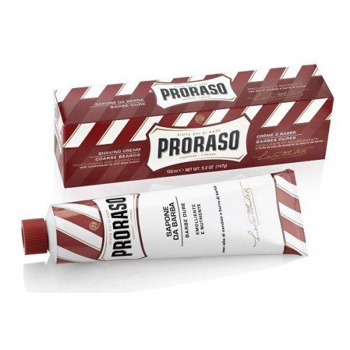 Crème à raser Proraso, barbe dure ligne rouge