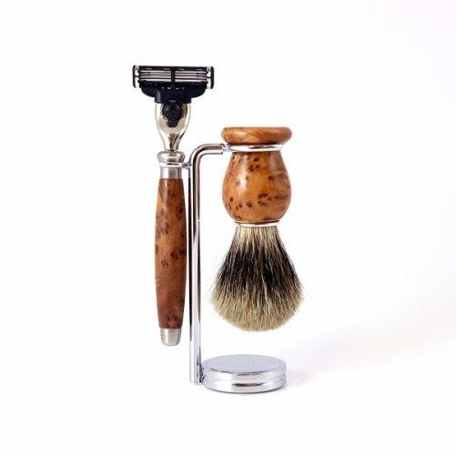 Set à raser Mach3 Thuya Gentleman Barbier