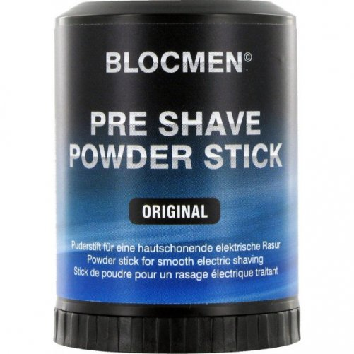 Stick de poudre BLOC MEN avant rasage électrique