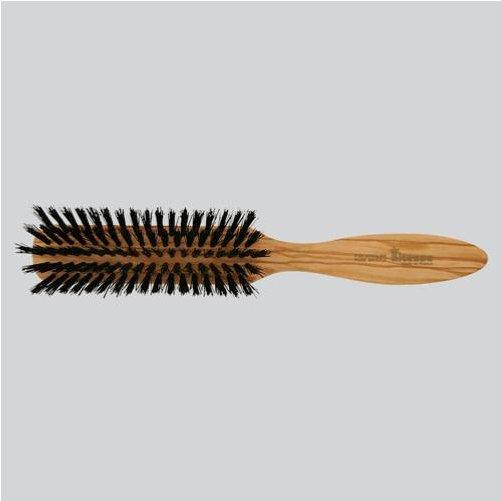brosse cheveux barbe longue en soies de sanglier et bois d 39 olivier fait la main en france. Black Bedroom Furniture Sets. Home Design Ideas