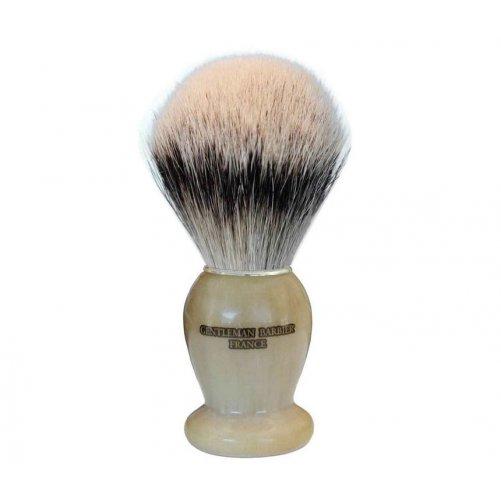 Blaireau silvertip en corne véritable Gentleman Barbier