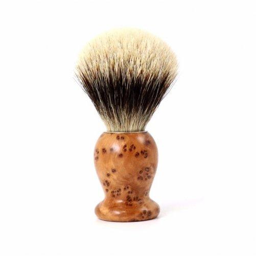 Blaireau poils blancs taille 14 Gentleman Barbier