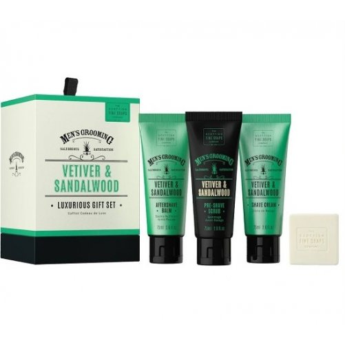 Coffret de rasage Vetiver et Santal  Men's Grooming