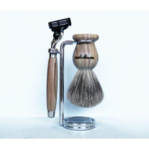 Set à raser Mach3 en olivier Gentleman Barbier