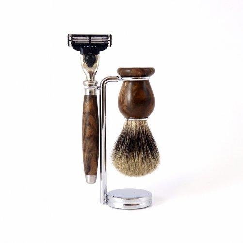 Set à raser Mach3 Ronce de Noyer Gentleman Barbier