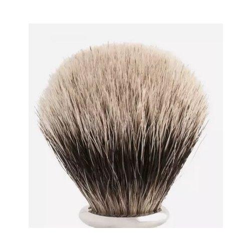 Touffe de blaireau poils blancs