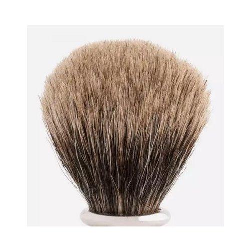 Touffe de blaireau poils gris européen
