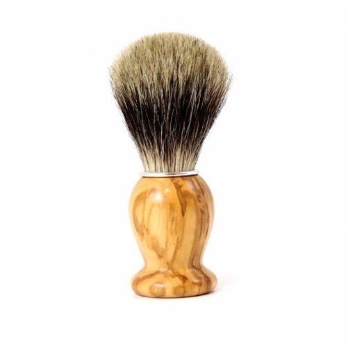 Blaireau poils pur gris Gentleman Barbier
