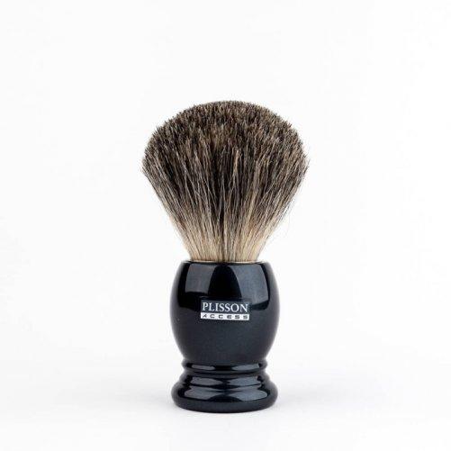 Blaireau poils pur gris Plisson