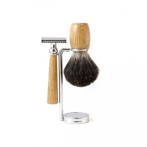 Set à raser sécurité en Chêne Gentleman Barbier