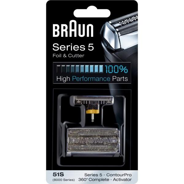 braun 51 s combipack grille couteaux pour rasoir braun. Black Bedroom Furniture Sets. Home Design Ideas